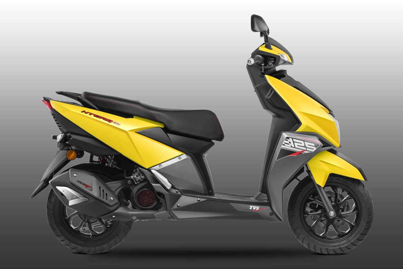 tvs ntorq 125 scooter launched in india autobics. Black Bedroom Furniture Sets. Home Design Ideas