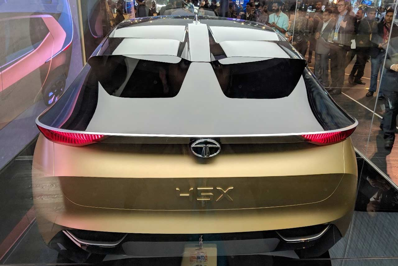Tata 45x concept unveiled at the auto expo 2018 autobics for Concept expo