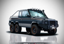 Tata Sumo 6X6 Rendering SRK Designs