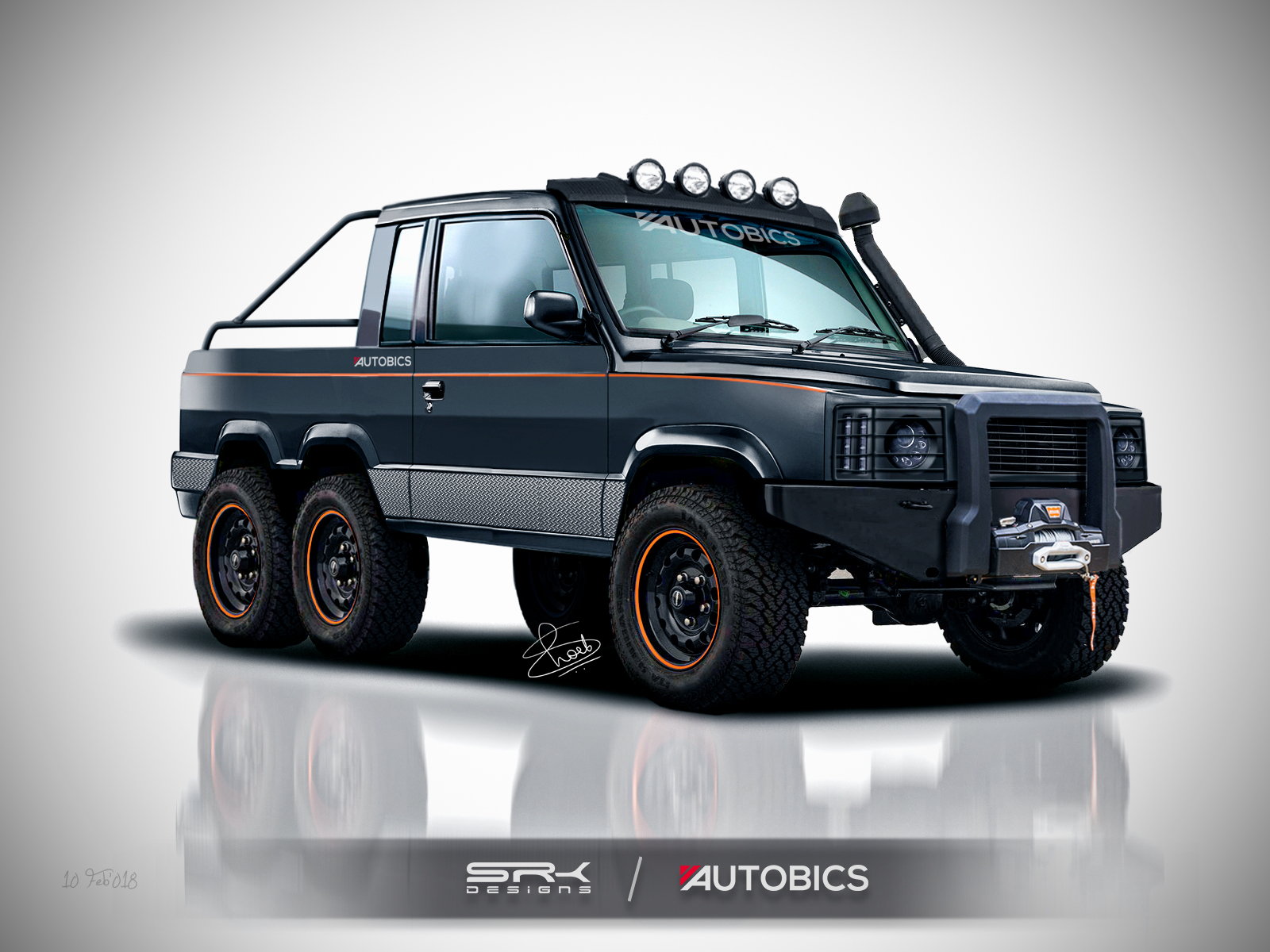 New Defender 2018 >> Tata Sumo modified into a 6X6 Monster Truck – Rendering | AUTOBICS