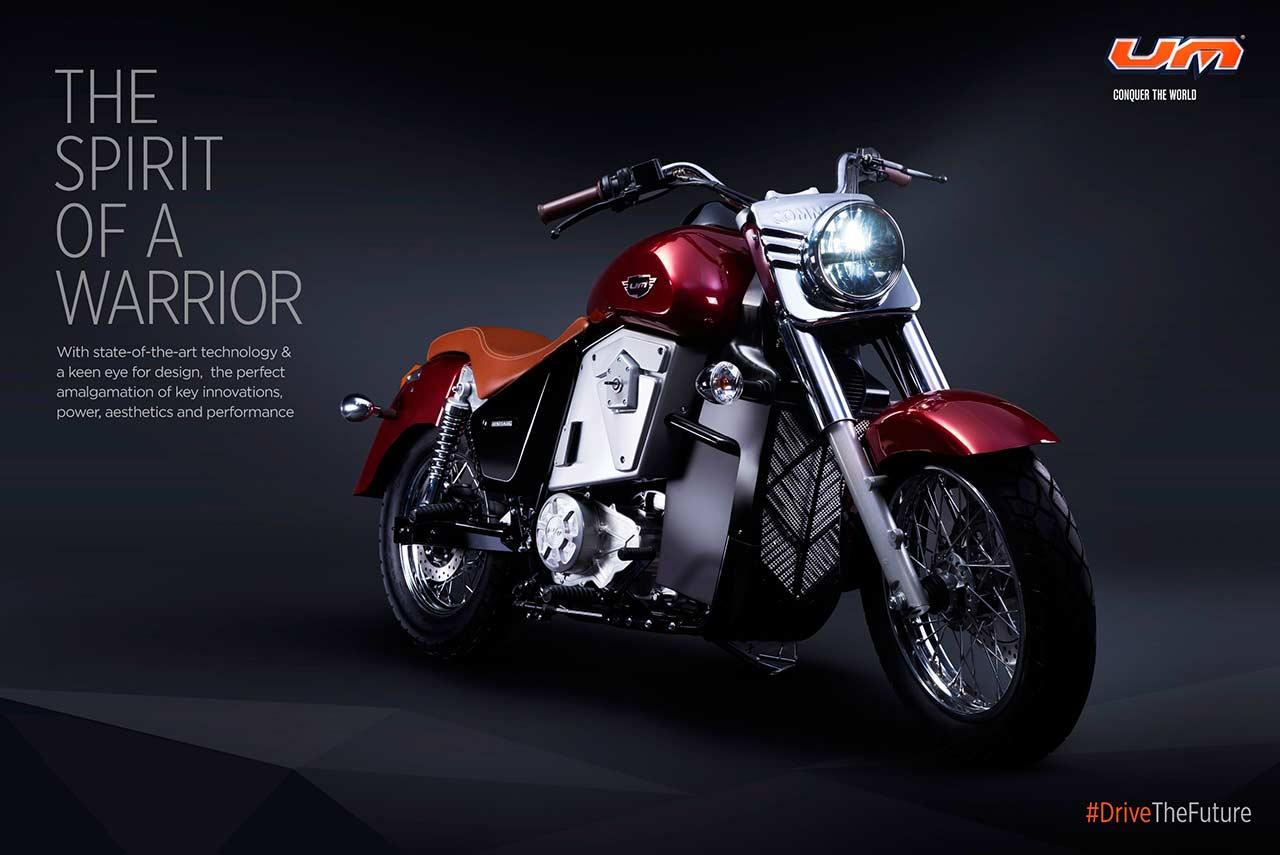UM Renegade Thor Electric Cruiser Motorcycle Auto Expo 2018