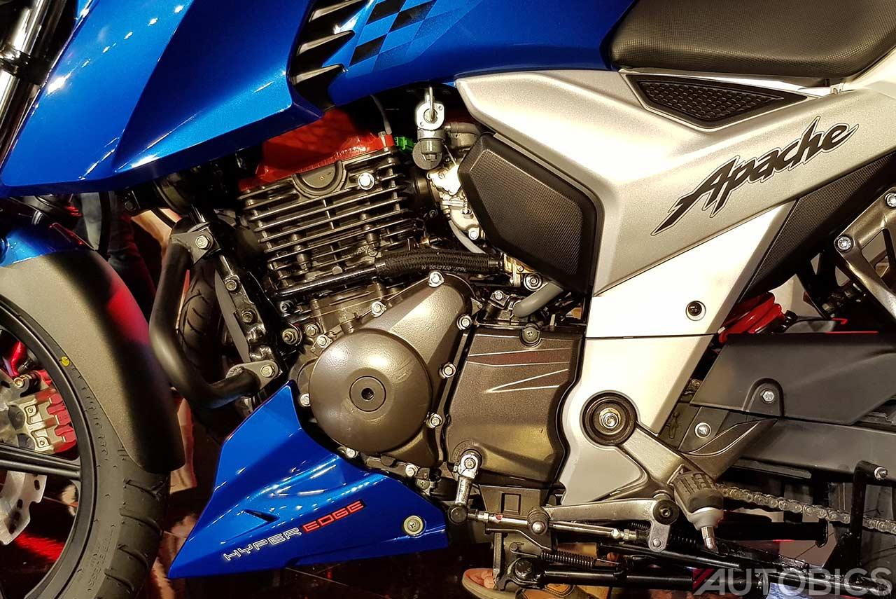 2018 Tvs Apache Rtr 160 4v Engine Left Autobics - apache 160 4v new model 2018 price