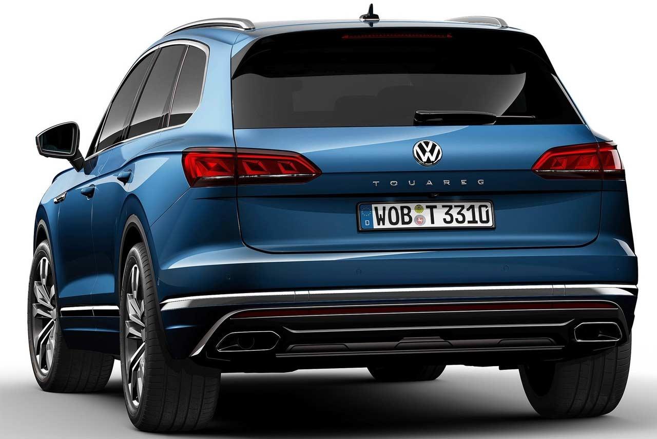 2019 Vw Touareg >> 2019 Volkswagen Touareg Blue Rear | AUTOBICS