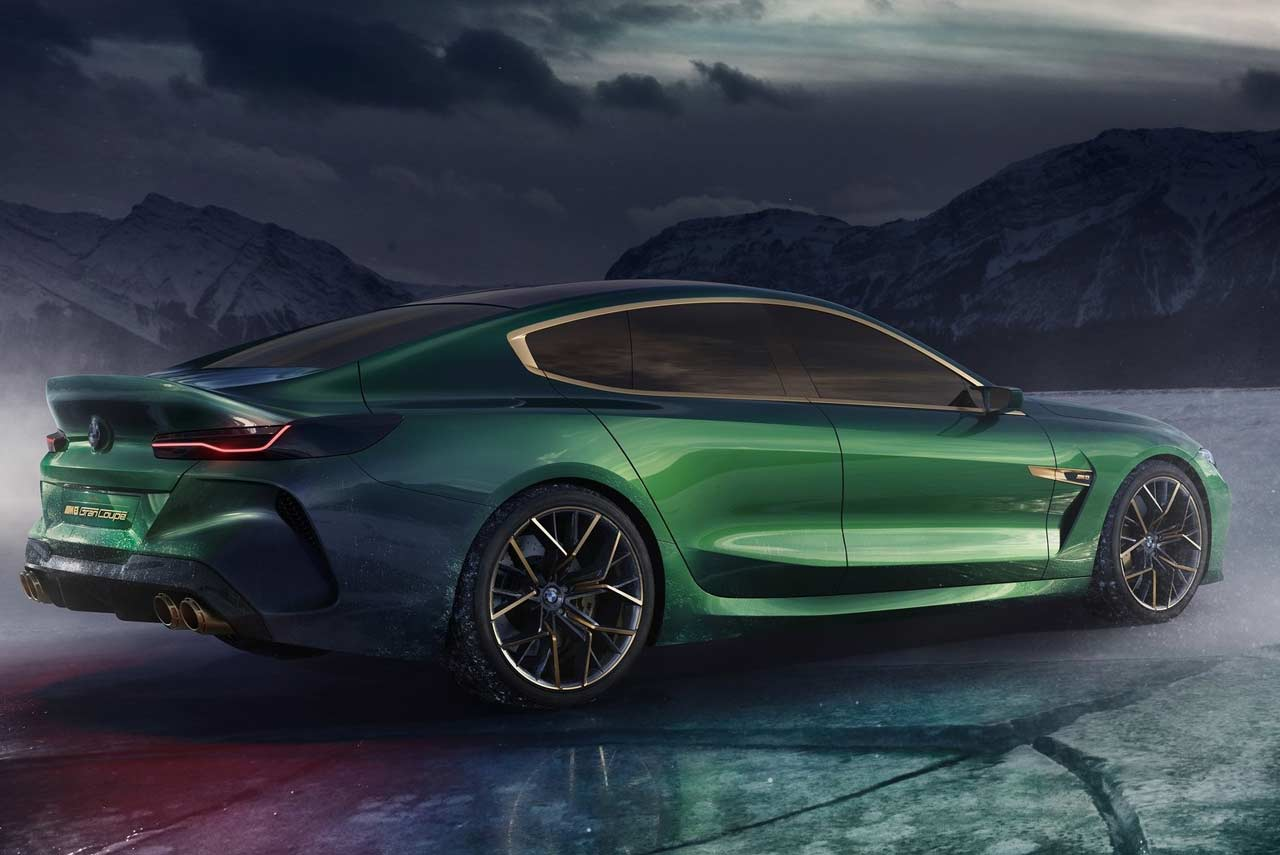 Bmw M8 Gran Coupe Concept Rear Right 2018 Autobics
