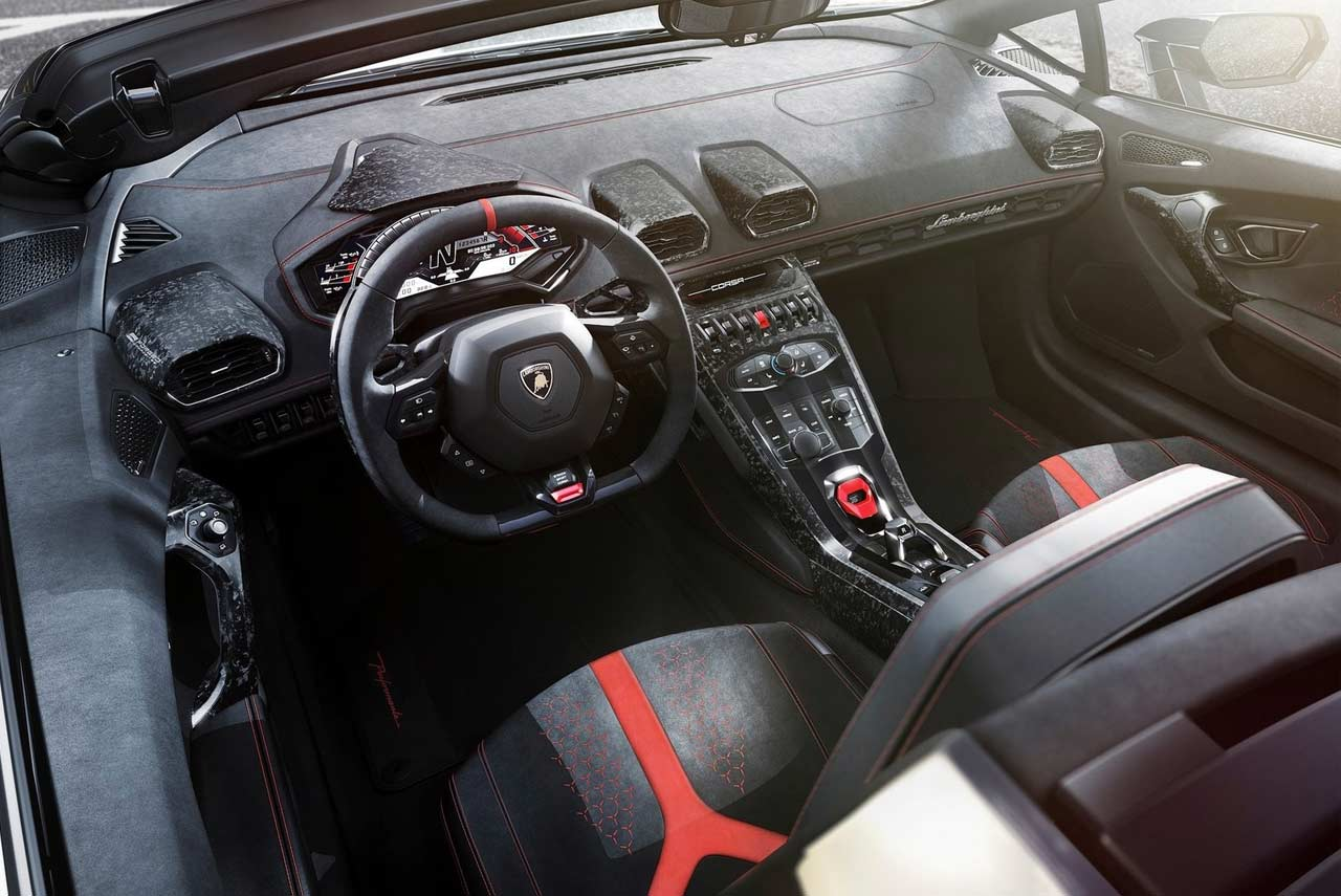 Lamborghini Huracan Performante Spyder Interior 2018 Autobics