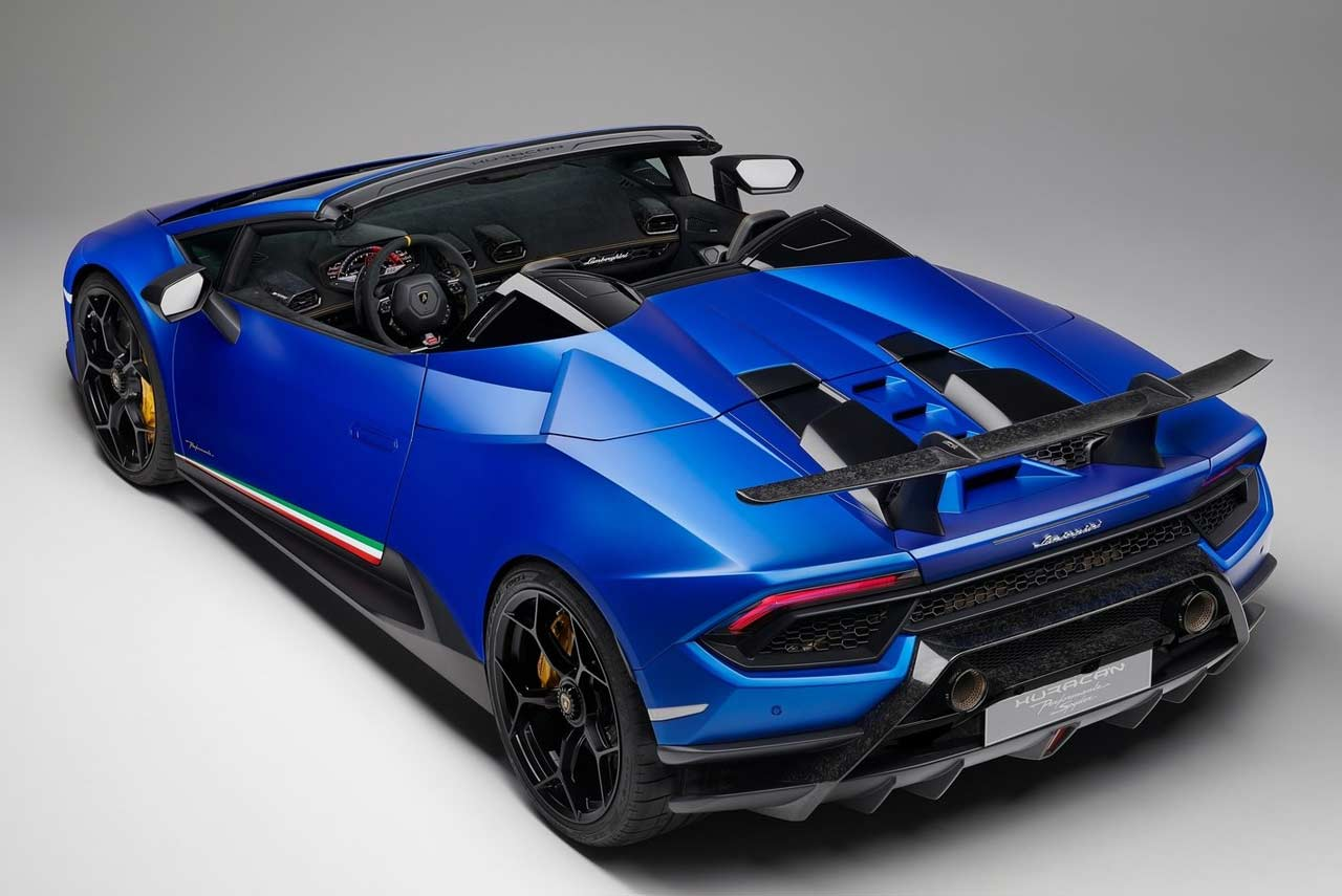 Lamborghini Huracan Performante Spyder Rear Quarter 2018