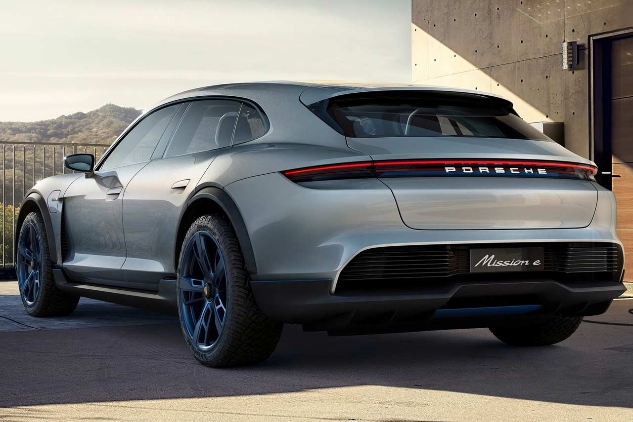 Porsche Mission E Cross Turismo Concept Rear Quarter 2018
