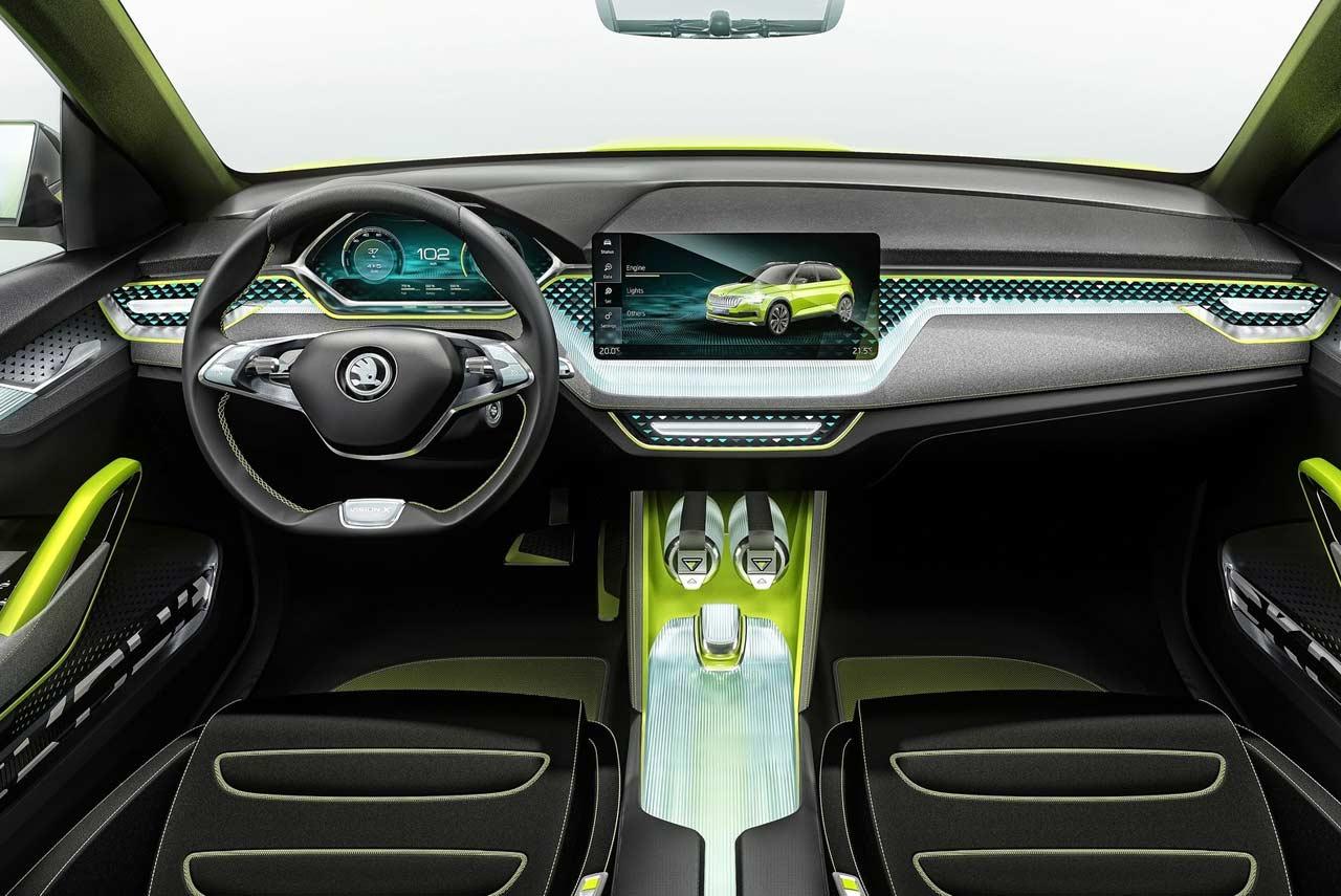 skoda vision x concept interior 2019 autobics