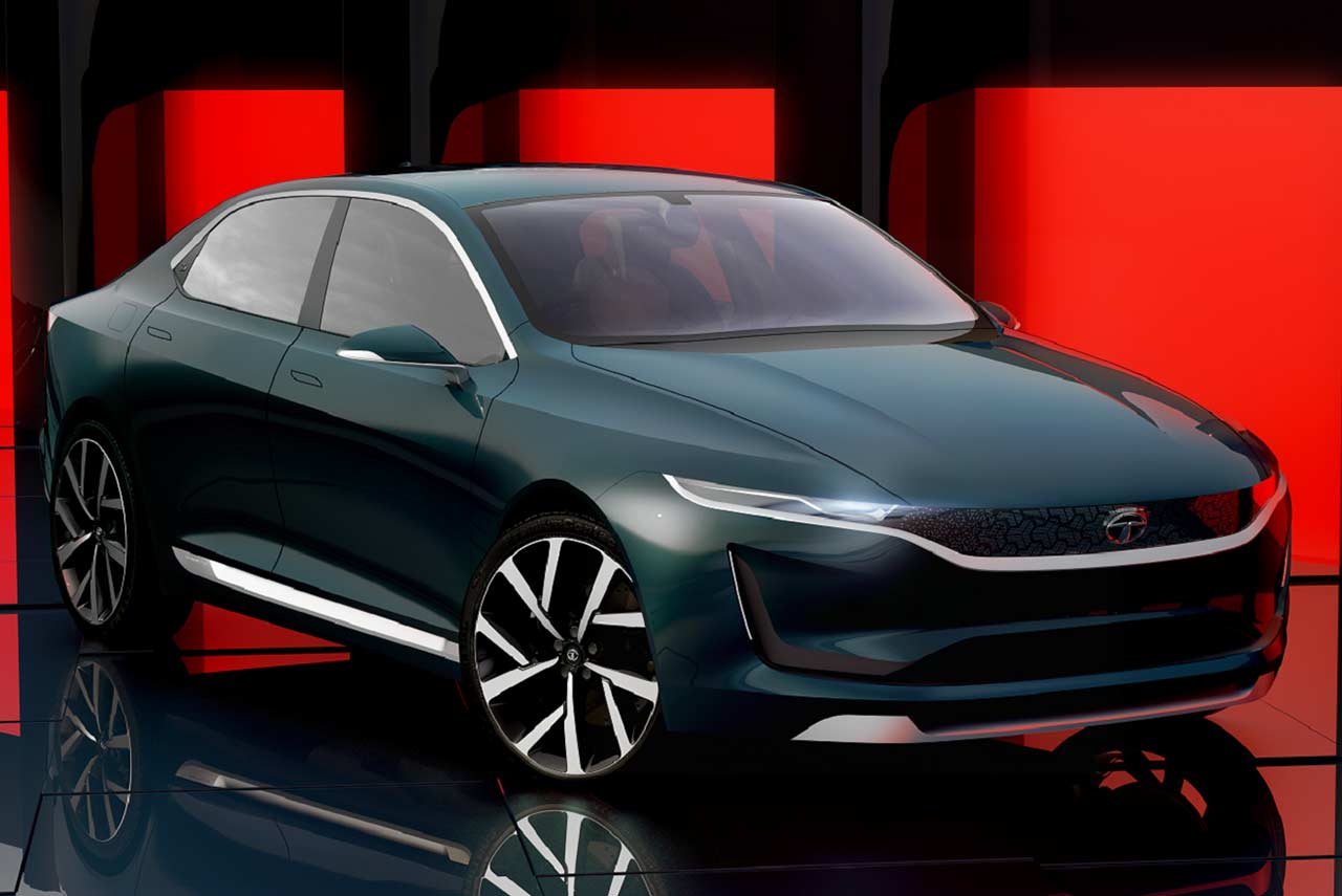 tata e-vision sedan concept unveiled at the geneva motor show 2018