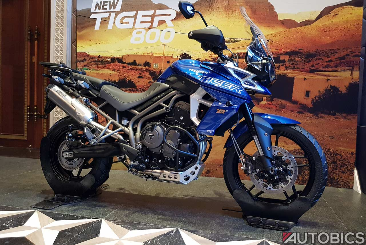 Triumph Tiger 800 Xrx Blue Side 2018 Autobics