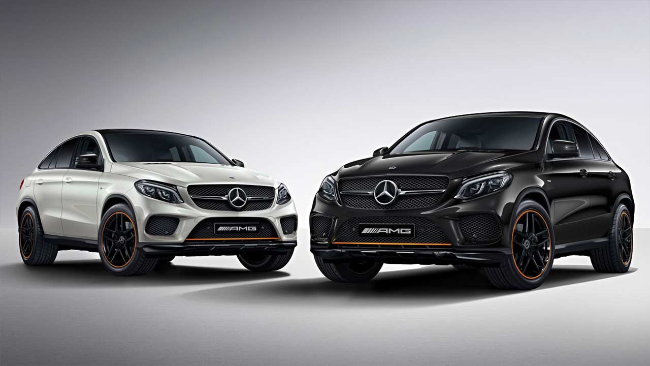 mercedes amg gle 43 coupe orangeart and slc 43 redart editions launched in india autobics. Black Bedroom Furniture Sets. Home Design Ideas