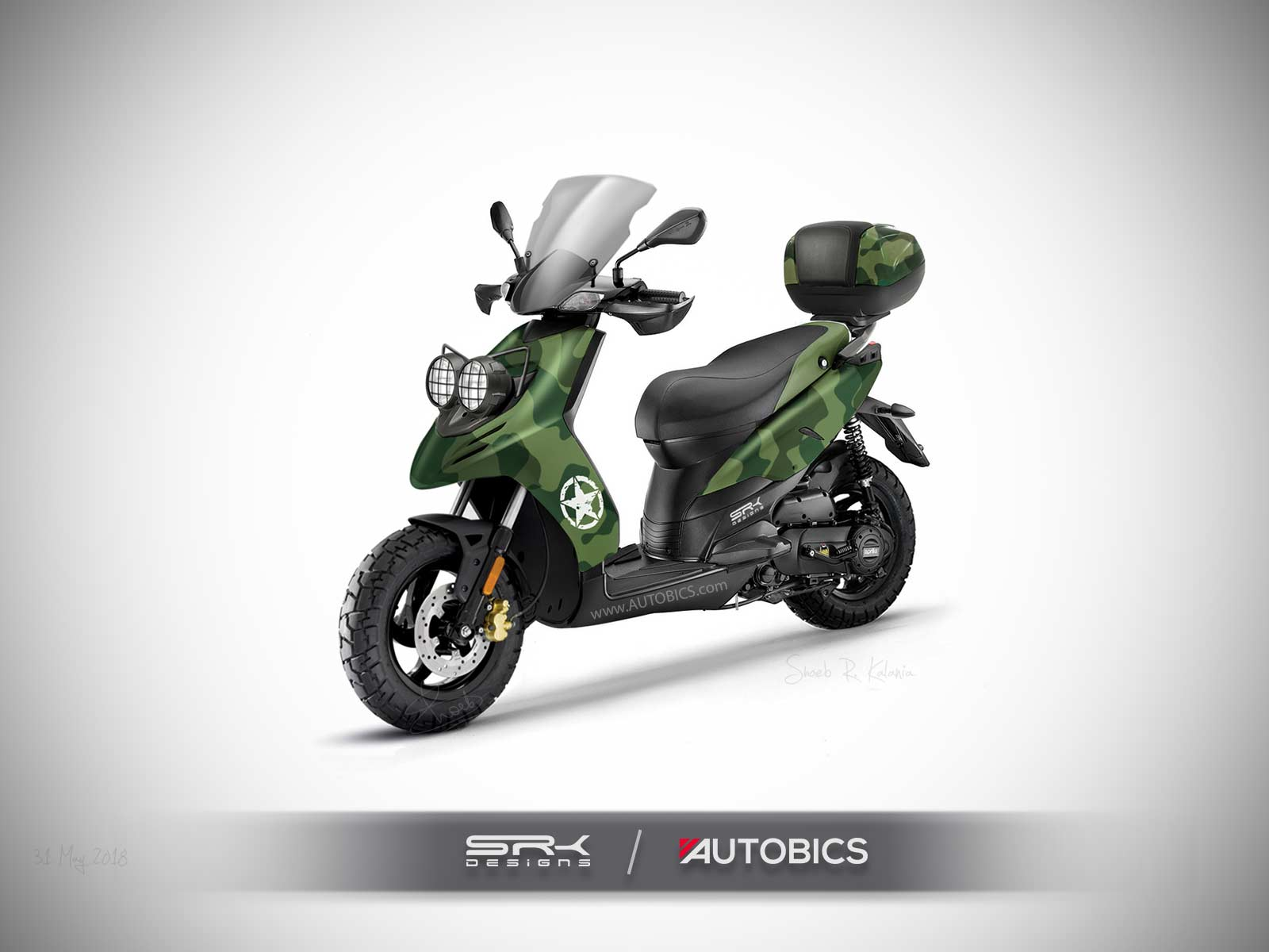 aprilia sr 125 adventure scooter imagined rendering autobics. Black Bedroom Furniture Sets. Home Design Ideas