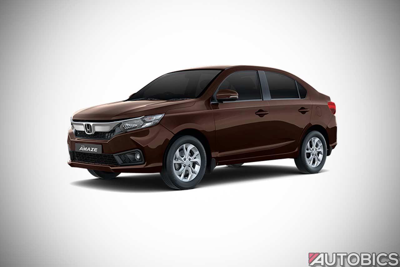 Honda Amaze Golden Metallic Brown 2018 Autobics