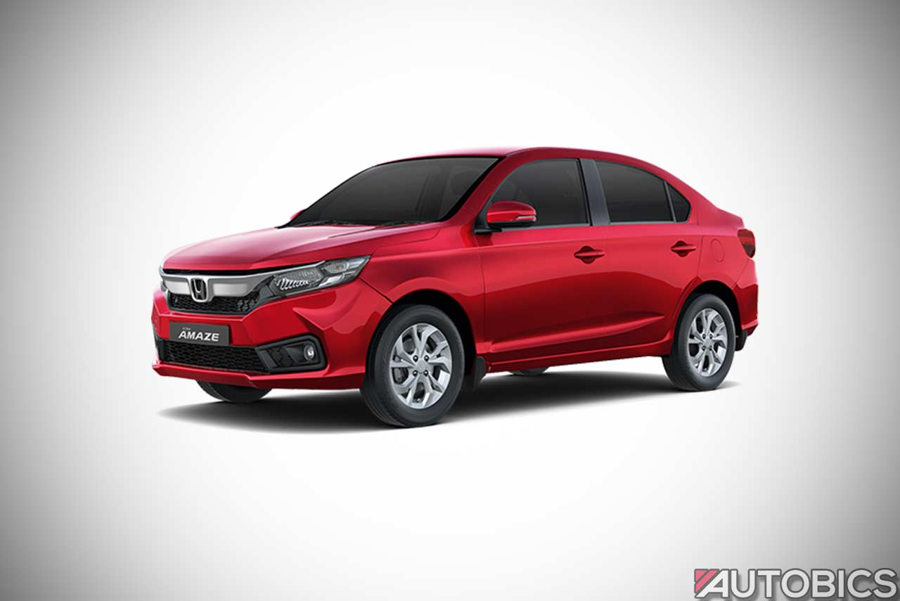 Honda Amaze Radiant Red 2018 | AUTOBICS