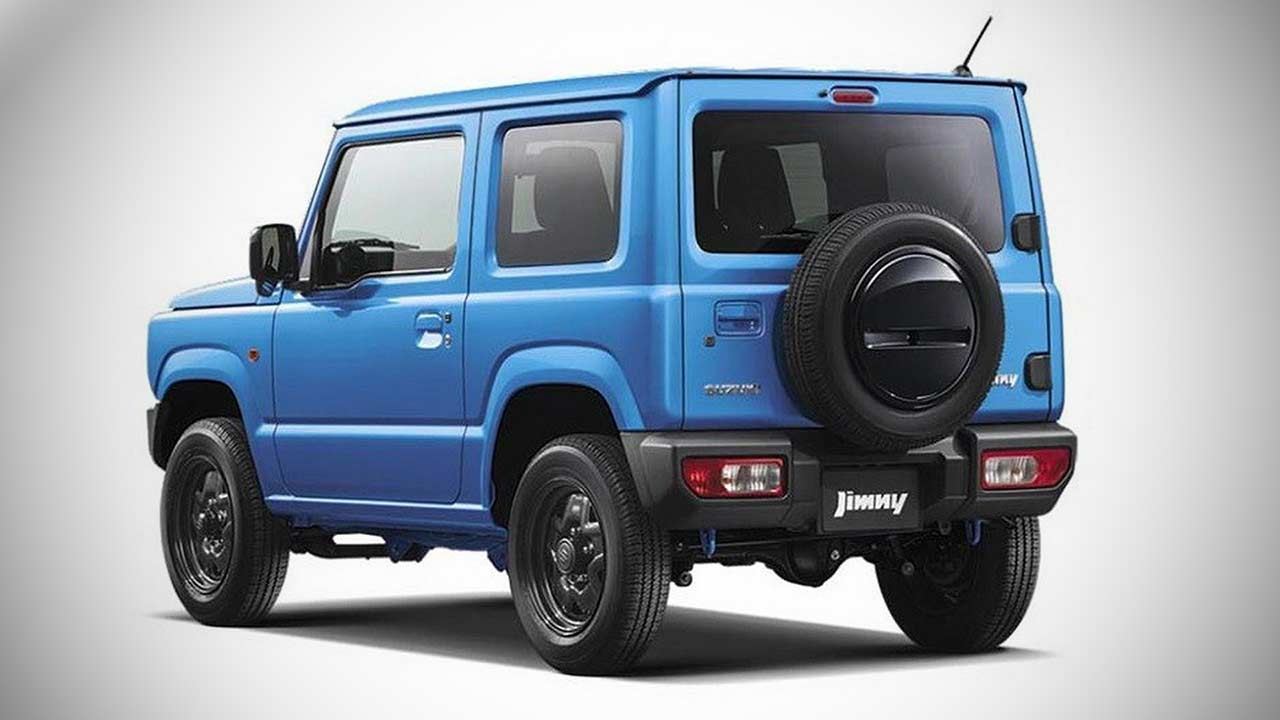 2018 suzuki jimny brisk blue metallic rear qurater autobics. Black Bedroom Furniture Sets. Home Design Ideas