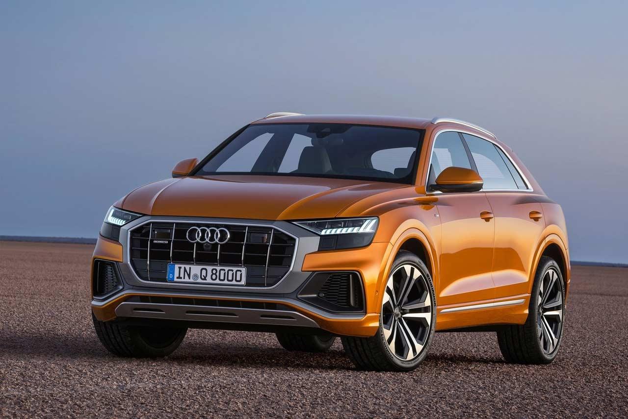 2019 Audi Q8 Dragon Orange Front Quarter Autobics