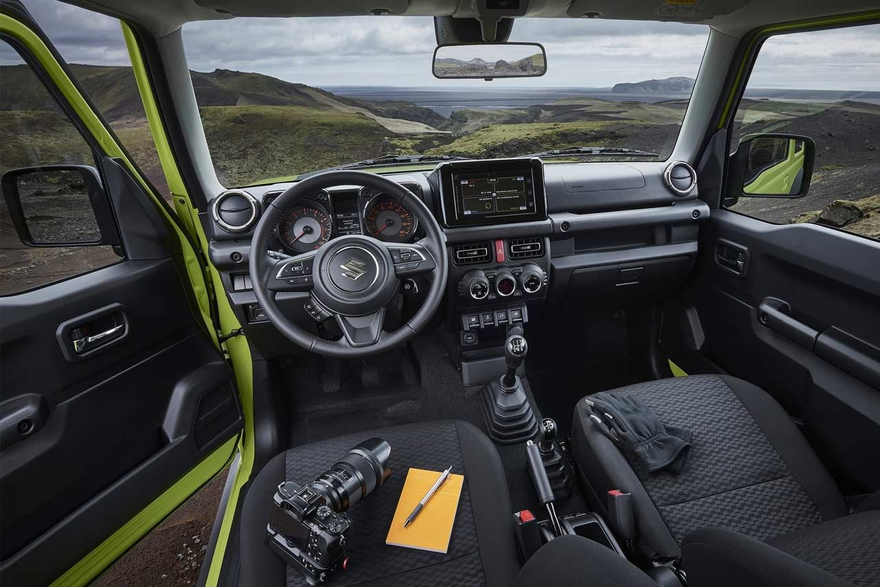 2019 suzuki jimny green front quarter autobics. Black Bedroom Furniture Sets. Home Design Ideas