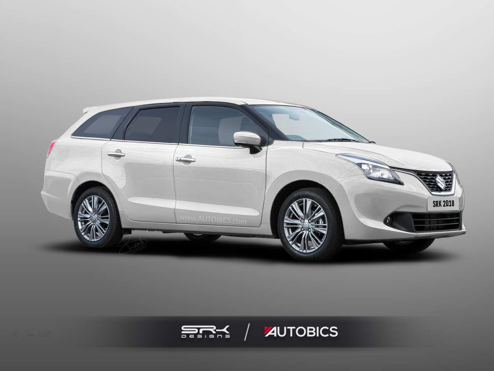 virtually tuned maruti suzuki baleno station wagon rendering autobics. Black Bedroom Furniture Sets. Home Design Ideas