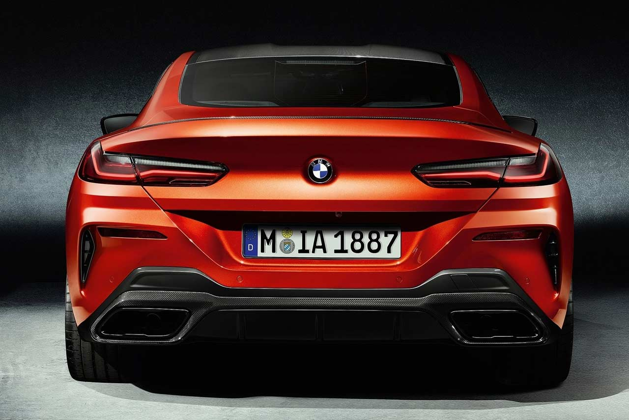 New Bmw 8 Series Coupe Orange Rear 2018 Autobics