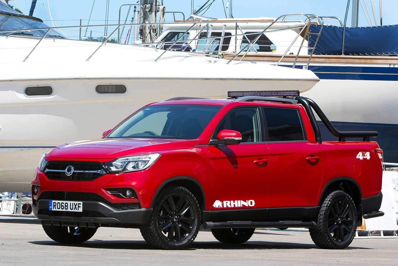 Ssangyong Musso Rhino Indian Red Front Side 2018 Autobics