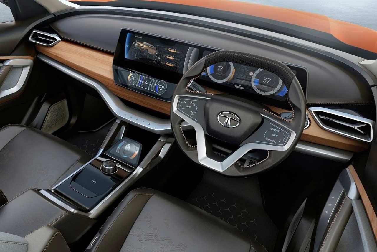 Tata H5x Concept Interior Dashboard 2018 Autobics