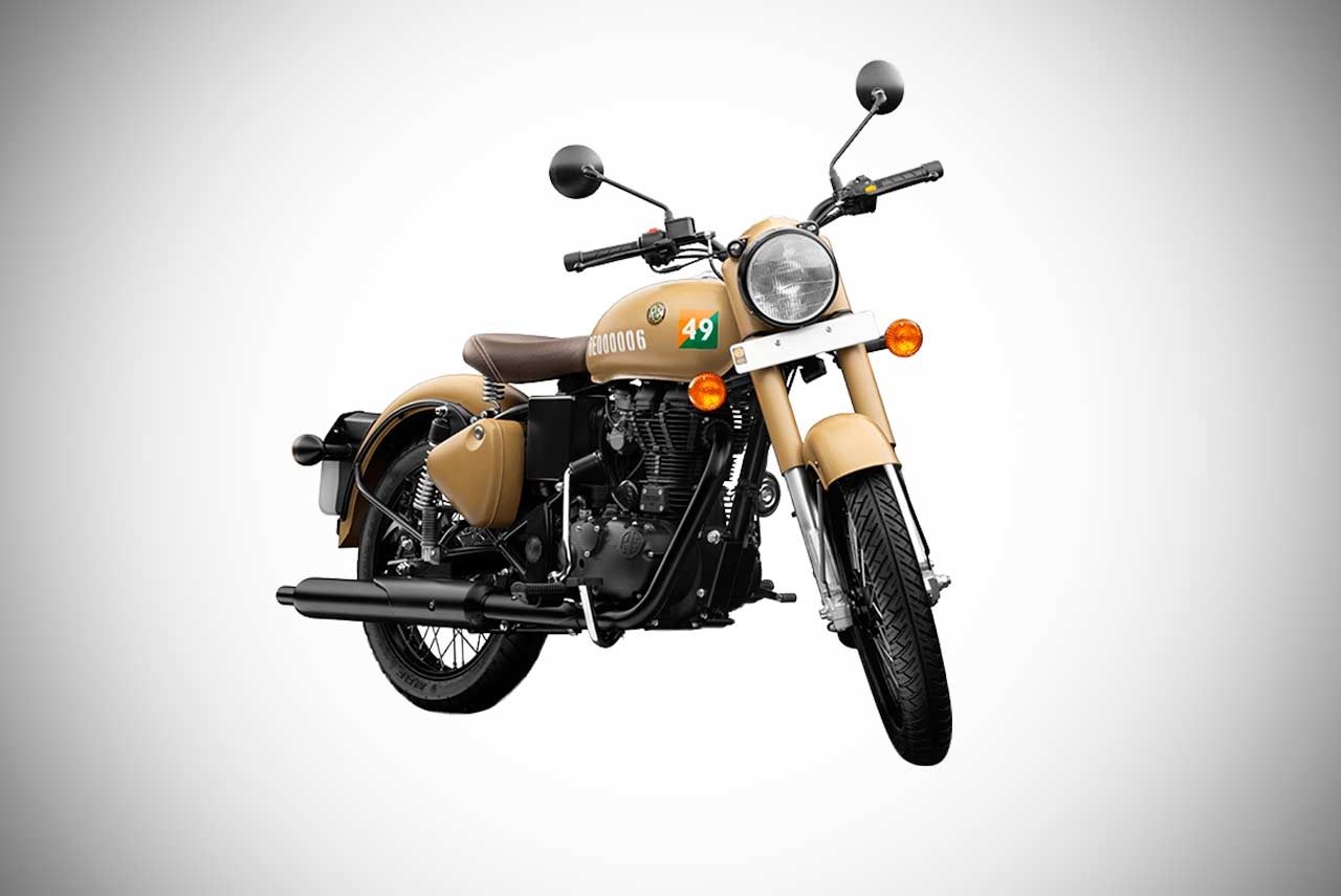 royal enfield classic signals edition with abs launched in india autobics. Black Bedroom Furniture Sets. Home Design Ideas