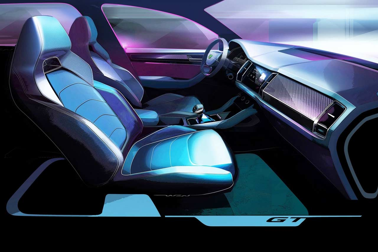 Skoda Kodiaq Gt Interior Design Sketch 2018 Autobics