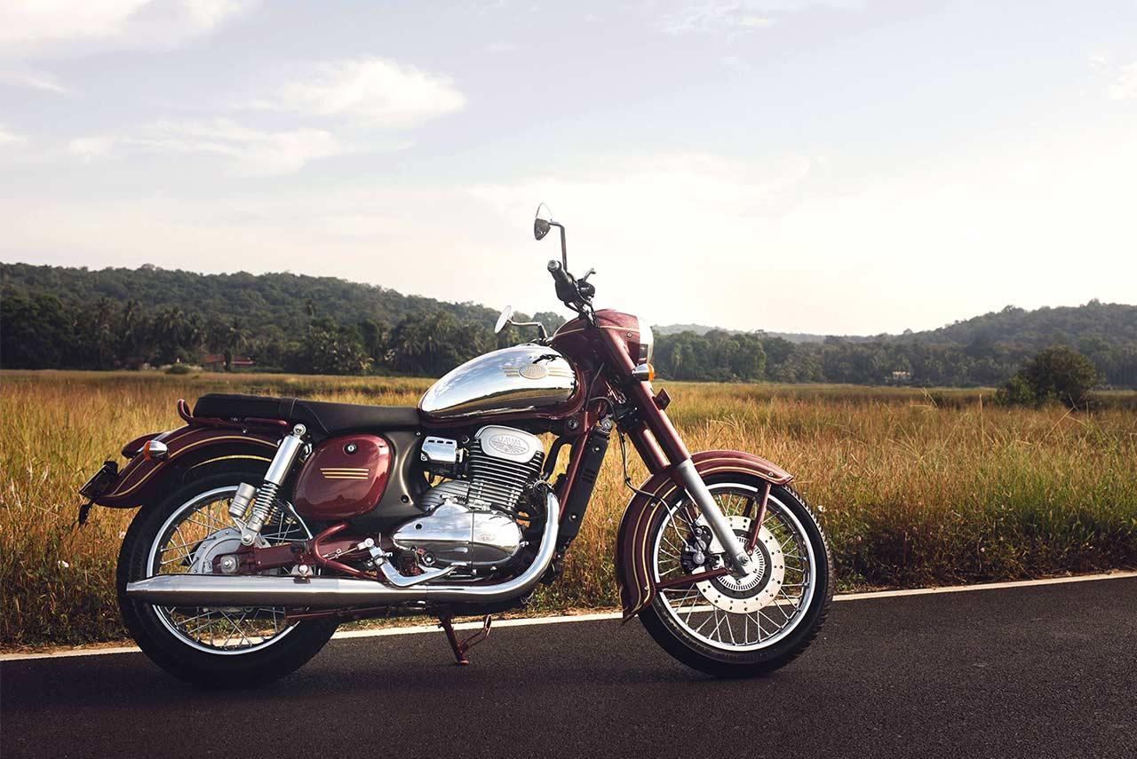 2018 Jawa Motorcycle Maroon Autobics