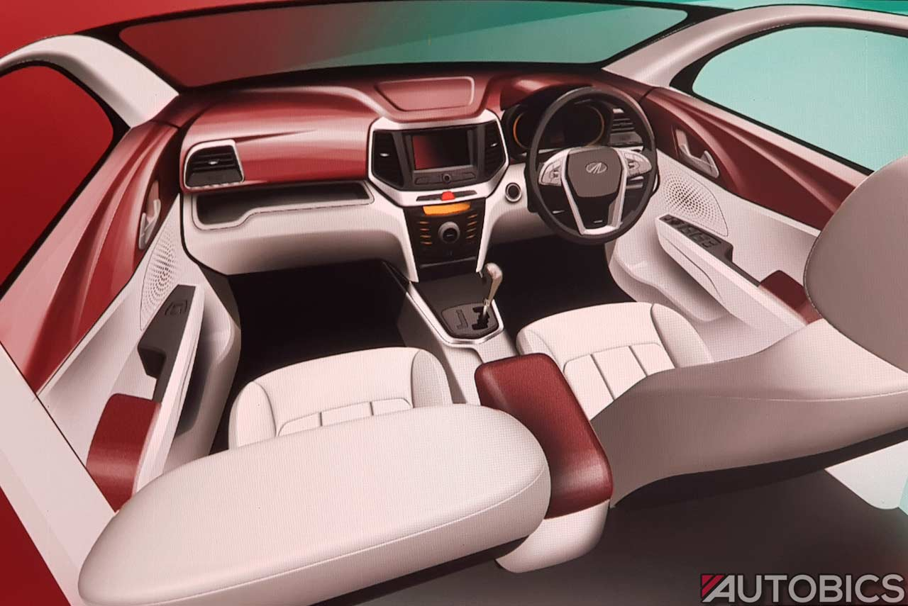 2018 mahindra xuv300 interior design sketch