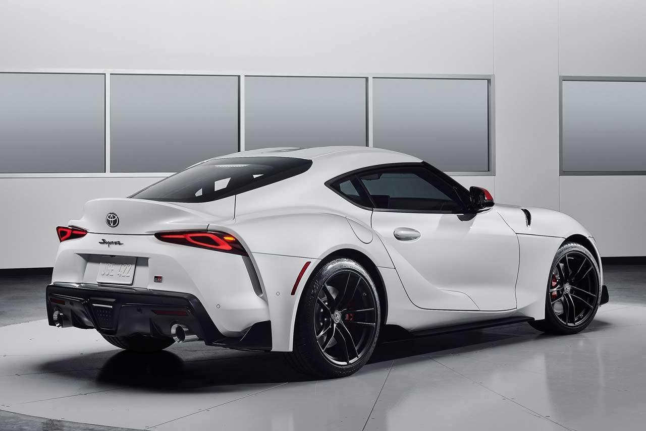 toyota supra absolute  white rear autobics