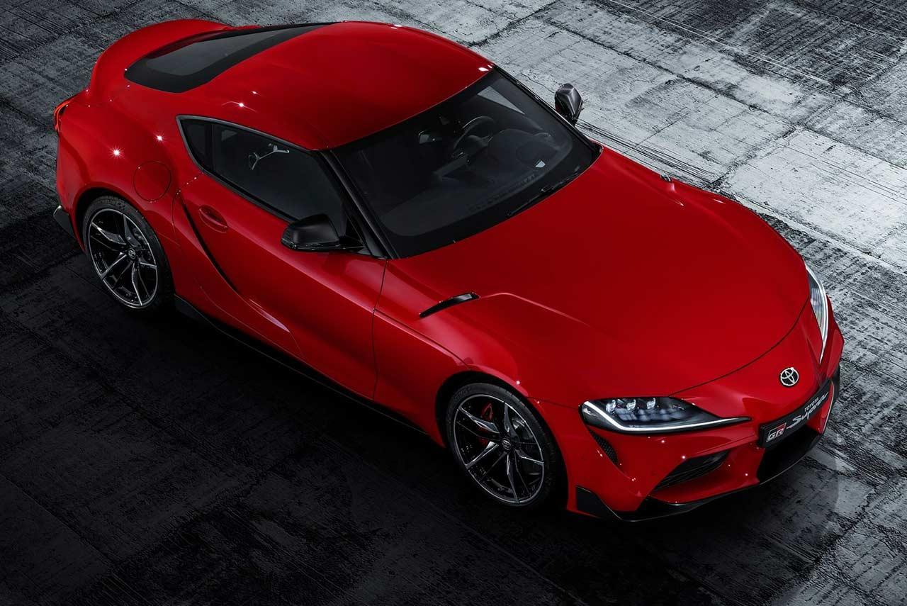 Toyota Supra Top View >> Toyota Supra Renaissance Red Top View 2020 Autobics